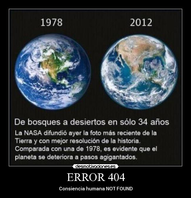 ERROR 404 - Consiencia humana NOT FOUND