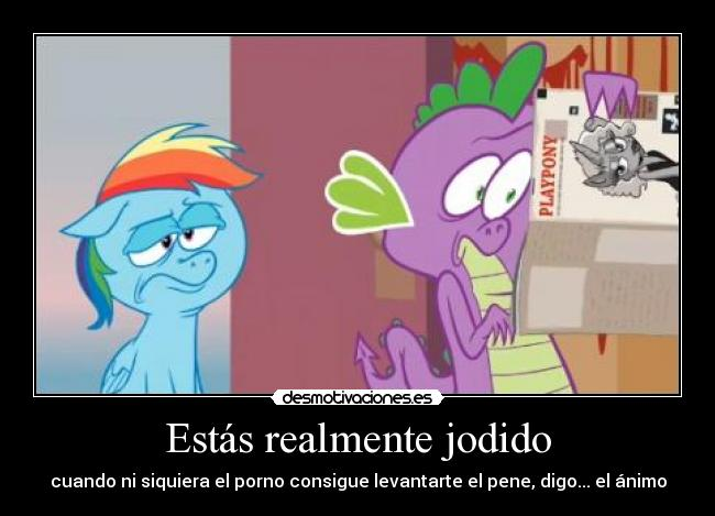 carteles little pony shedmov rainbow dash spike look all this porn desmotivaciones