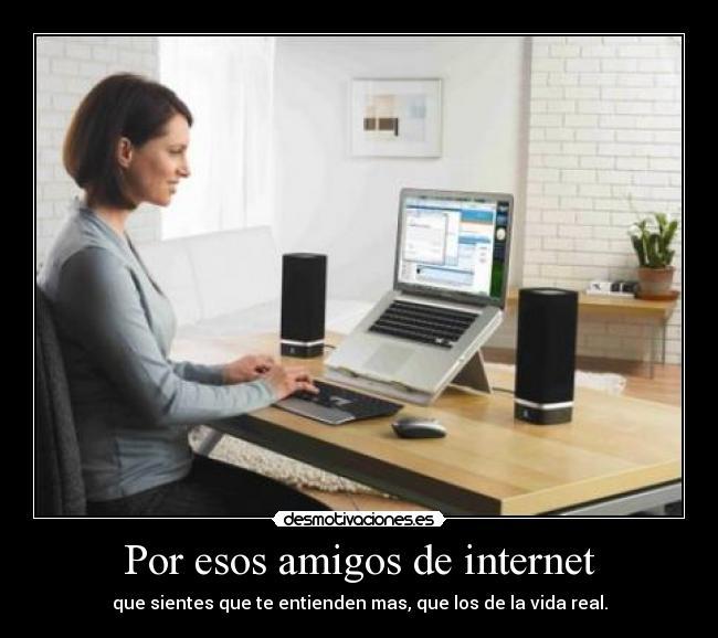 Tener amigos en internet