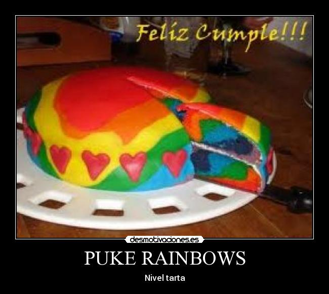 PUKE RAINBOWS - Nivel tarta
