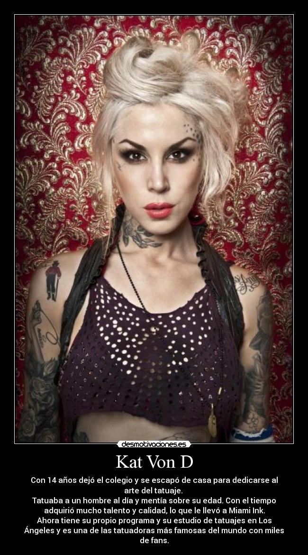 carteles kat von tatuajes miami ink ink tatuadora desmotivaciones
