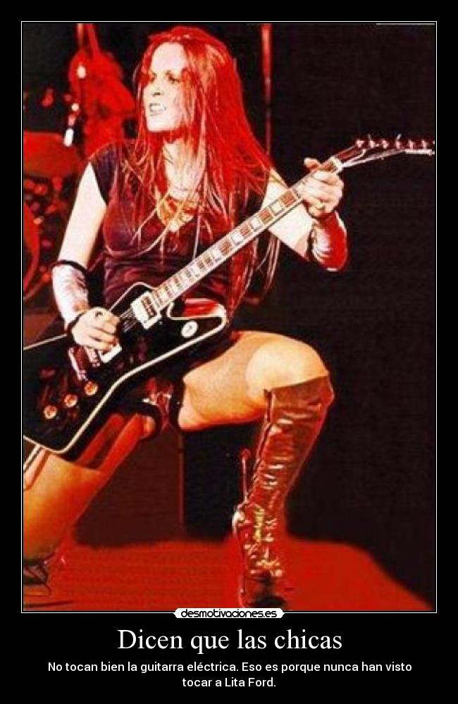 carteles lita ford girls musica chicas metal the runaways desmotivaciones