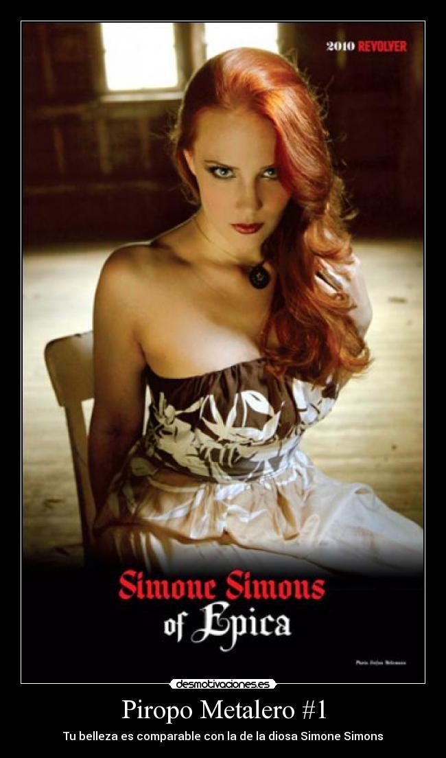 Simone Simons Epica Metal Piropo Metalero Belleza Desmotivaciones
