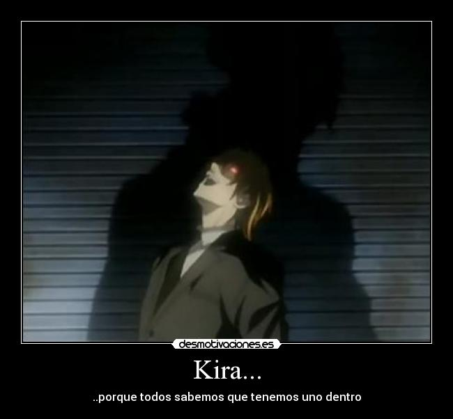 carteles kira death note light yagami desmotivaciones