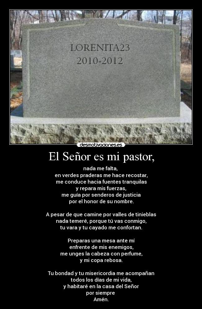 El Seor es mi pastor, - nada me falta, 