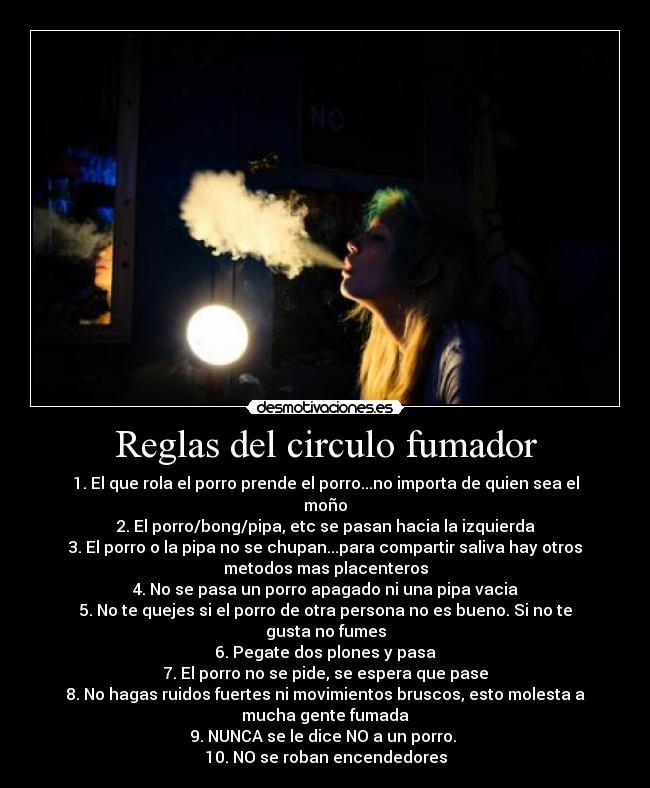 carteles weed circulo fumar marihuana reglas rules smoking circle mono