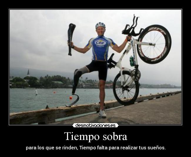 carteles triatlon ironman pierna desmotivaciones