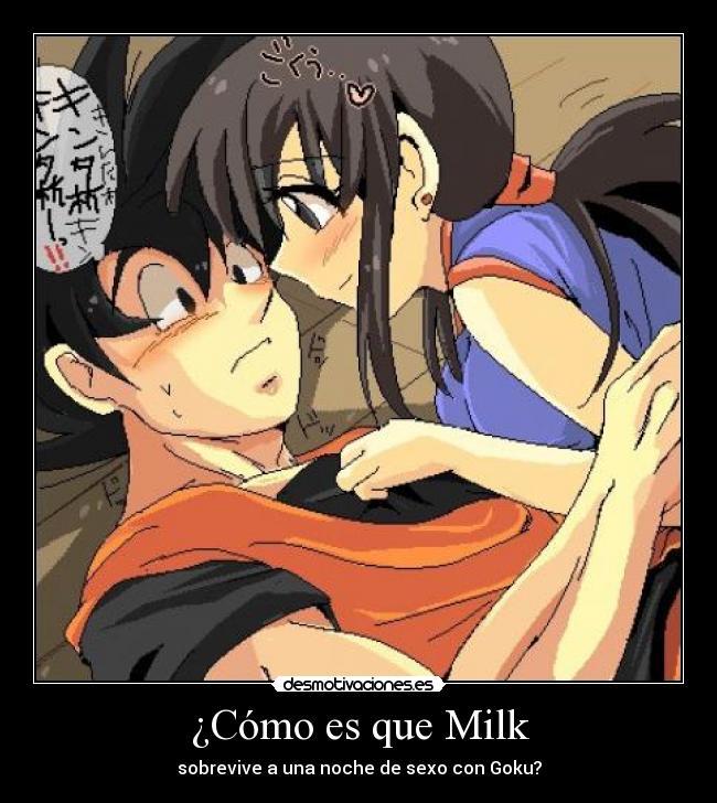 videos porno de goku y milk: