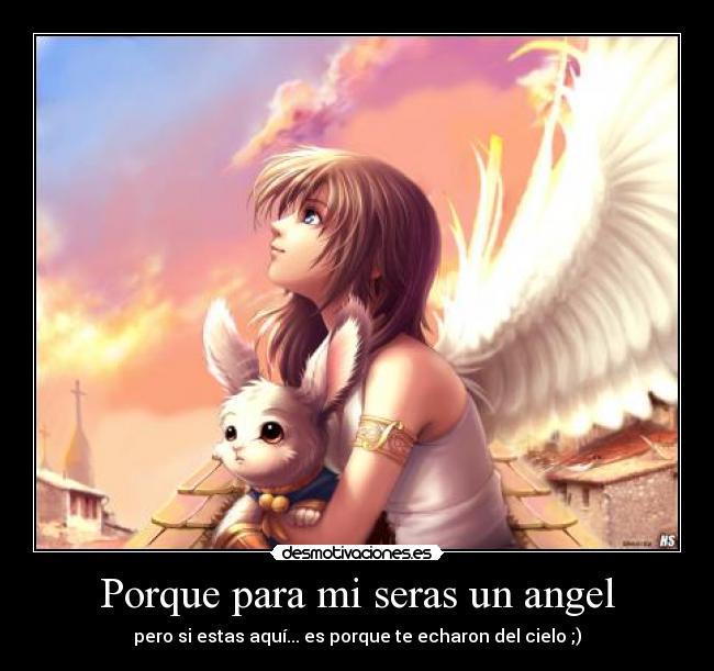 Imagenes de amor anime angeles con frases - Imagui