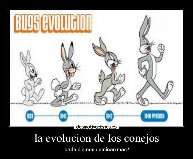 carteles evolucion conejo bugs bunny desmotivaciones
