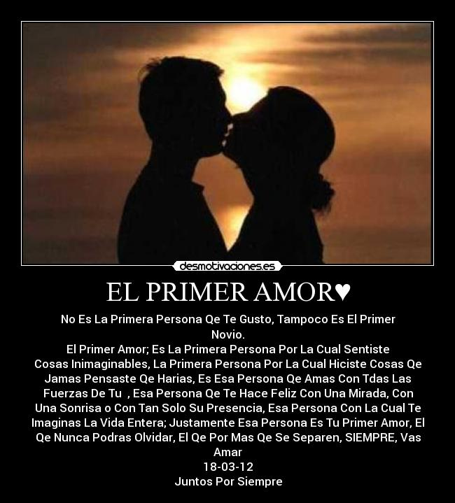 carteles amor primer amor desmotivaciones