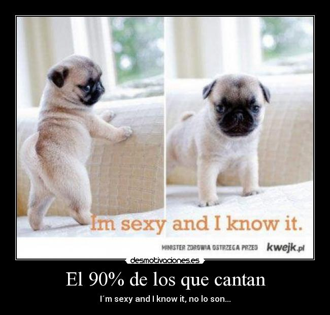El 90% de los que cantan - I´m sexy and I know it, no lo son...