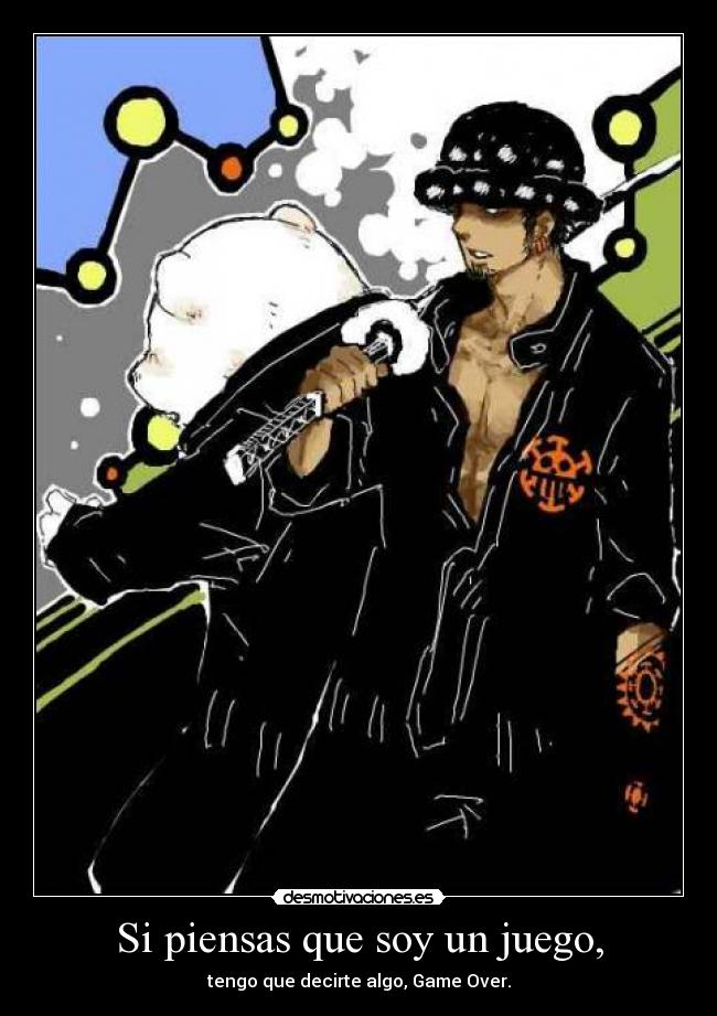 carteles one piece trafalgar law bepo desmotivaciones