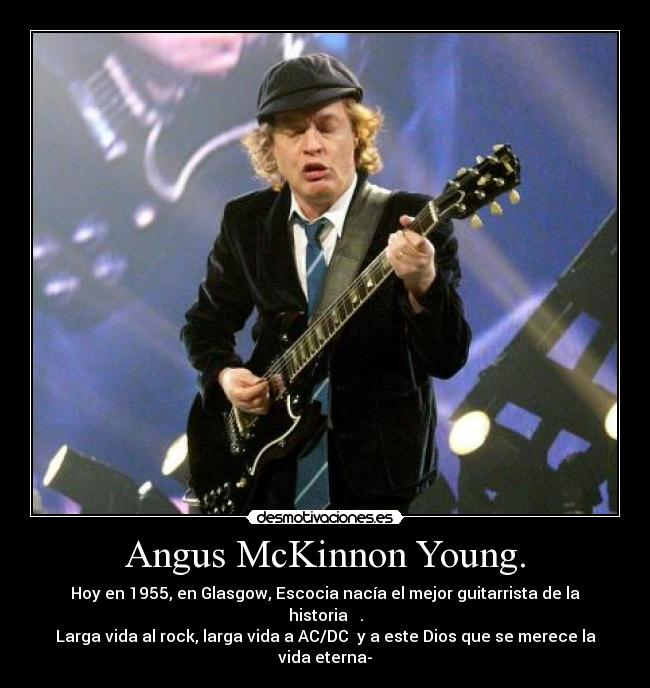 an analysis of the topic of angus young guitarist of acdc Print all entries for this topic cite the ceaseless cavorting of lead guitarist angus young in his young, who form the nucleus of ac/dc.