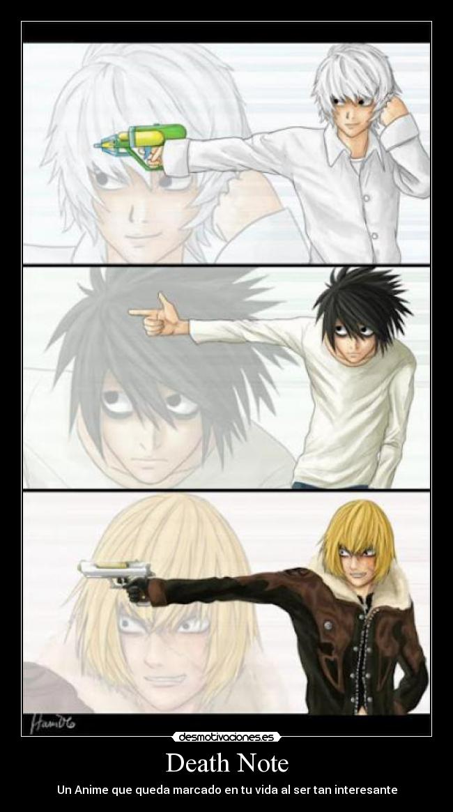 carteles death note kira mello near anime desmotivaciones