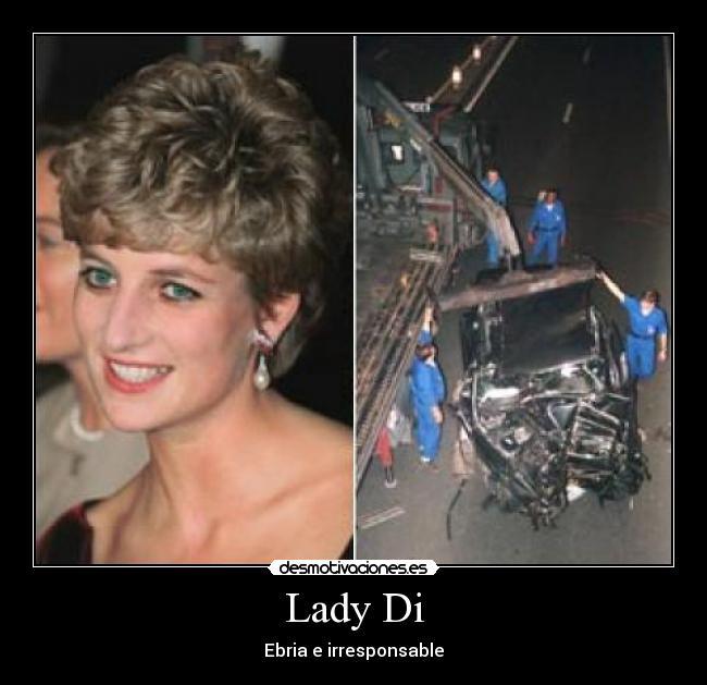 foto muerte lady di: