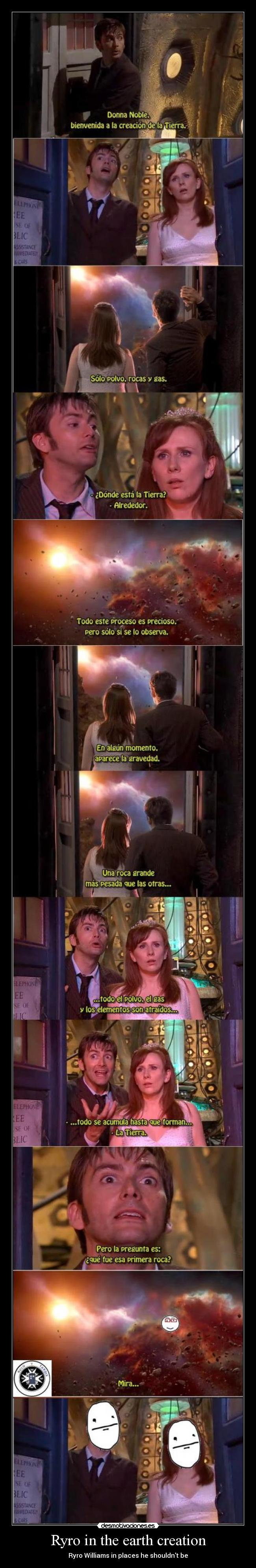 carteles clantimelord ryro williams timelord doctor tennant donna ruloytardis ryroinplacesheshouldntbe desmotivaciones