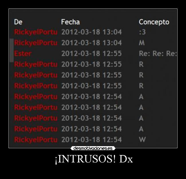 ¡INTRUSOS! Dx -