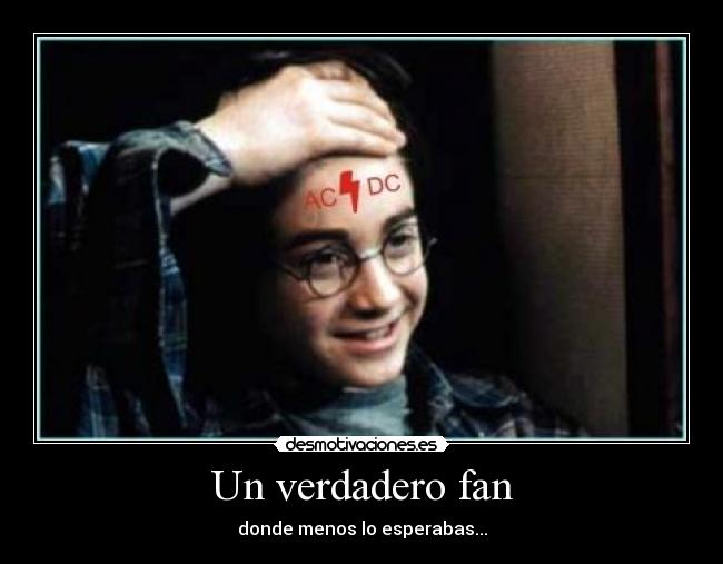 carteles harry potter true fan desmotivaciones