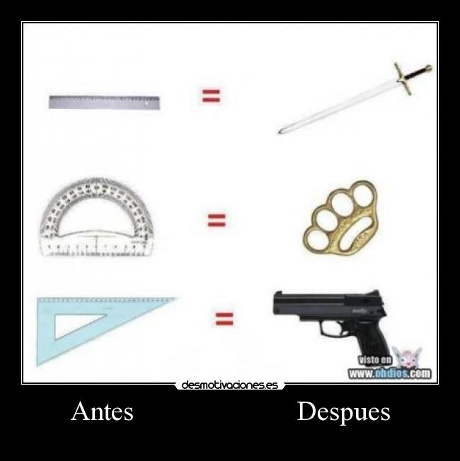 Antes                       Despues -