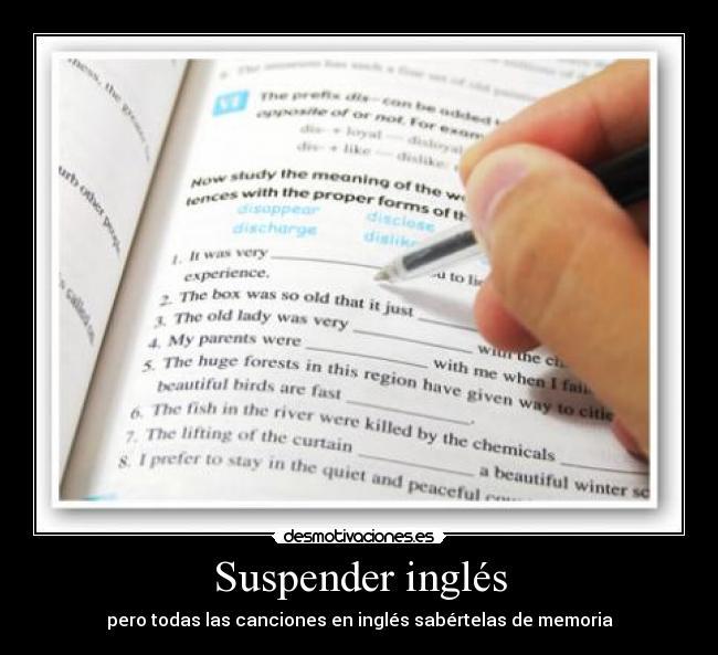 Suspender en ingles