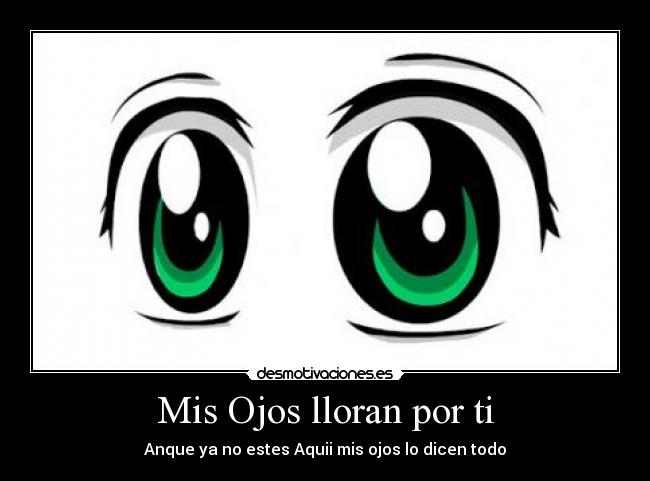 Ojos animes llorando - Imagui