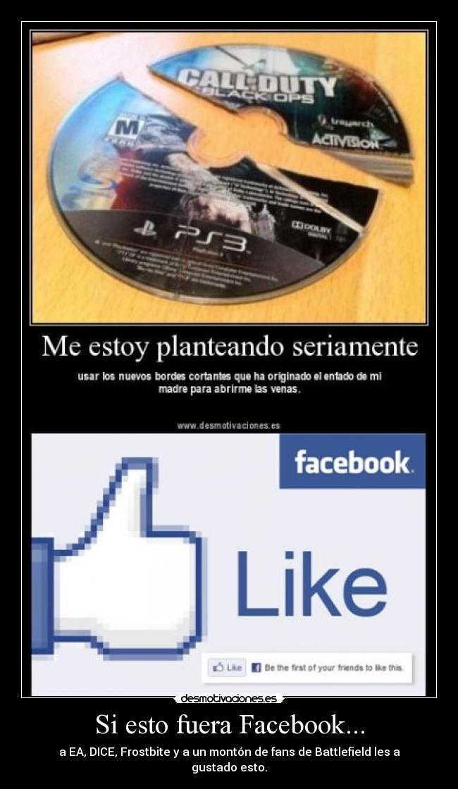 carteles facebook los que les gusta battlefield les gusta estado del juego desmotivaciones
