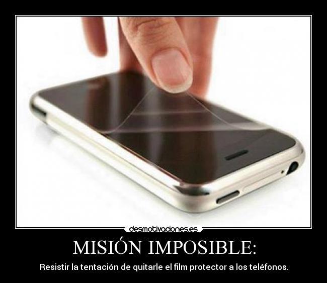 carteles imposible celulares protector desmotivaciones