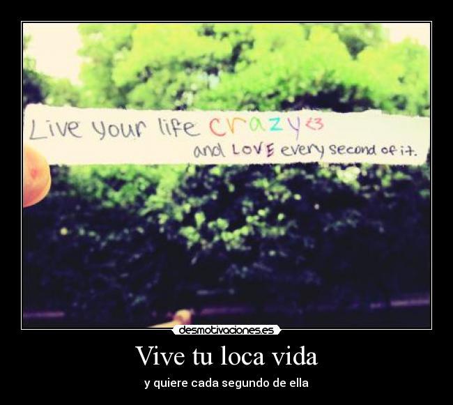 Vive Tu Loca Vida Desmotivaciones