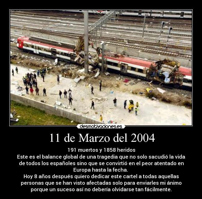 11 marzo madrid: