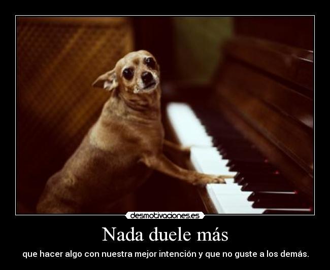 carteles duele perro que toca piano perro pianista gemelo23 resubido desmotivaciones