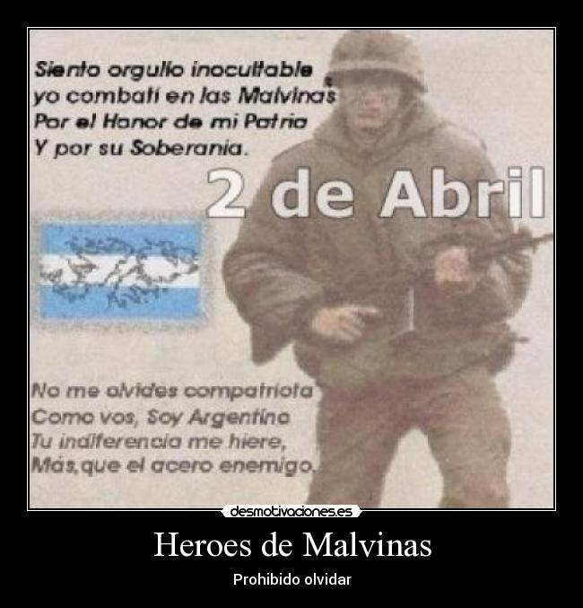 Malvinas Argentinas Desmotiva......2