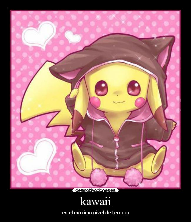carteles kawai chibi pikachu pokemon desmotivaciones
