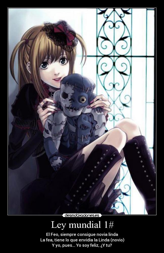 carteles amor correspondido fea feo linda lindo anime manga fortuna amistad desmotivaciones