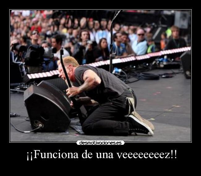 carteles james hetfield amplificador jasonic desmotivaciones
