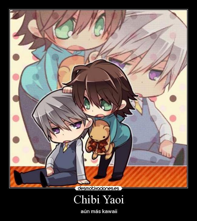 carteles chibi yaoi kawaii desmotivaciones