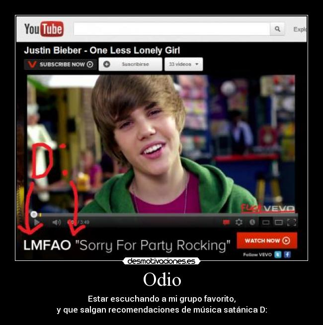 carteles odio lmfao dedicado alika ewe justin bieber rules the nation reprara desmotivaciones