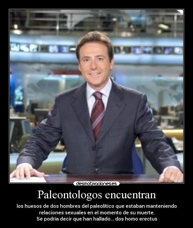 Paleontologos encuentran - los huesos de dos hombres del paleoltico que estaban manteniendo
