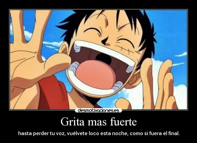 carteles one piece luffy block tell them desmotivaciones