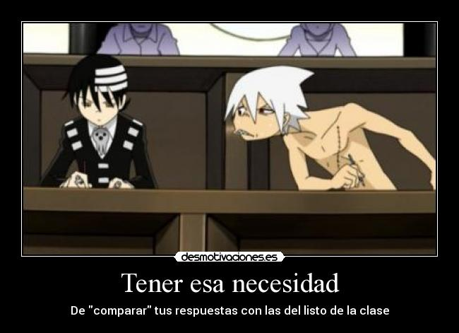 carteles copiar soul eater dath the kid desmotivaciones