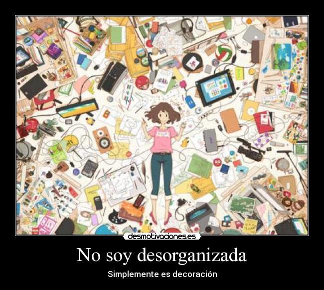 carteles anime otaku cuarto desorganizada desmotivaciones