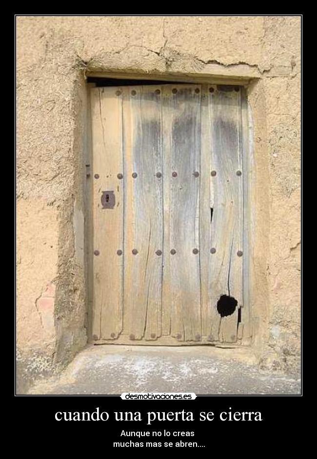 cuando una puerta se cierra desmotivaciones