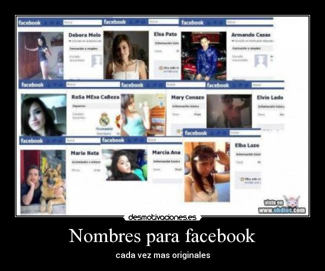 carteles facebook facebook nombres risa desmotivaciones