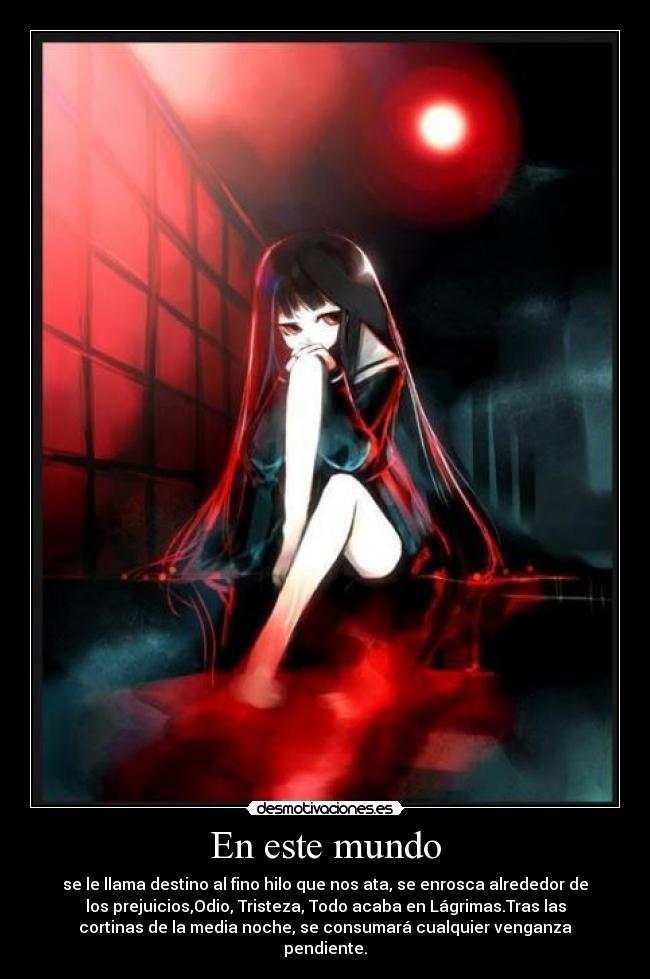 carteles mundo enma jigoku shojo hell girl anime desmotivaciones