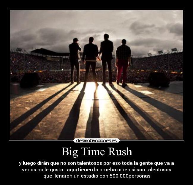 Big Time Rush - y luego dirán que no son talentosos por eso toda la gente que va a verlos no le gusta...aquí tienen la prueba miren si son talentosos que llenaron un estadio con 500.000personas