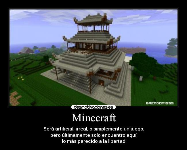 carteles minecraft mine craft libertad juegos desmotivaciones