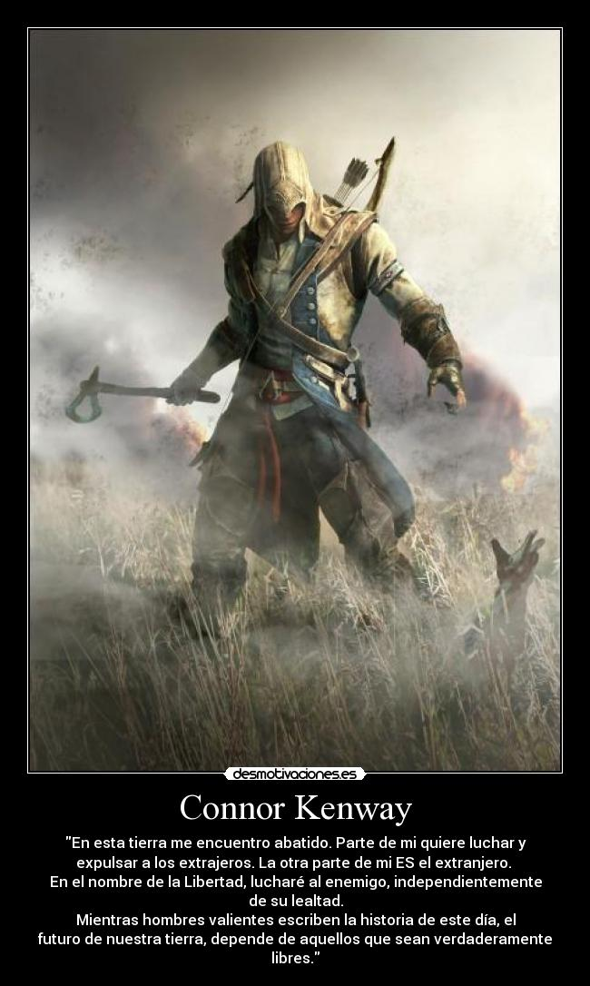 carteles assassins creed connor kenway ubisoft desmotivaciones