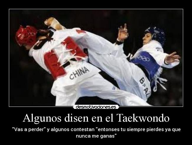 Algunos Disen En El Taekwondo Desmotivaciones