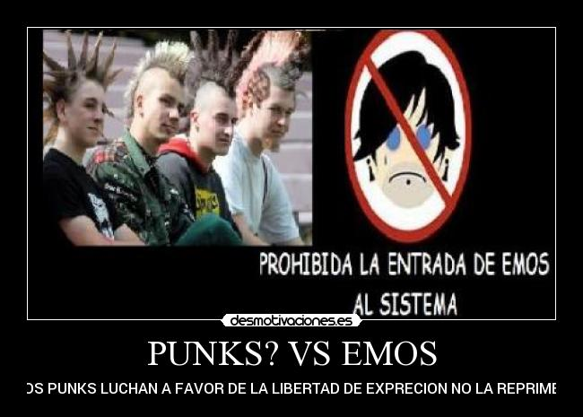 carteles punk emos anti emos puebla mexico metal metal heavy happy punk especimen desmotivaciones