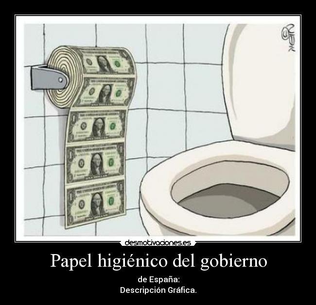 elimina gobierno carteles papel